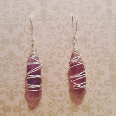 Amethyst Cocoon Earrings